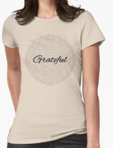 Grateful - Black Womens Fitted T-Shirt