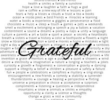 Grateful - Black by RecoveryGift