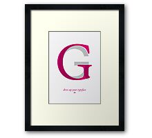 Dress Up Your Typeface Framed Print