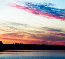 Dazzling Sunset - Puget Sound by Lynnette Peizer