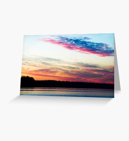 Dazzling Sunset - Puget Sound Greeting Card