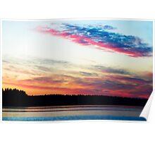 Dazzling Sunset - Puget Sound Poster
