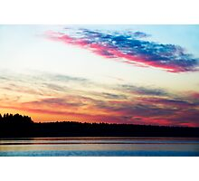 Dazzling Sunset - Puget Sound Photographic Print