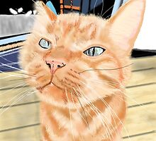 Oliver - the Sniffy Norwegian Orange Tabby by melasdesign
