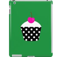 Black and white polka dot cupcake with pink cherry geek funny nerd iPad Case/Skin