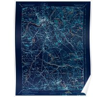 Massachusetts  USGS Historical Topo Map MA Lawrence 352801 1893 62500 Inverted Poster