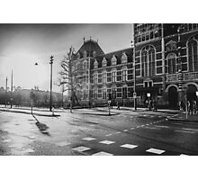 Amsterdam: Outside the Rijksmuseum at dawn (textless version) Photographic Print