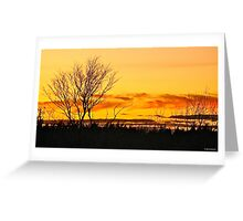 Back Deck Sunset Greeting Card