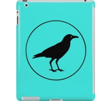 Black crow purple halloween classic round geek funny nerd iPad Case/Skin
