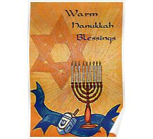 Warm Hanukkah Blessings Poster