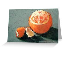 Orange Partially Peeled, Oil Pastel, Fruit Greeting Card
