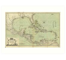 Map of the West Indies by Thomas Bowen (1774) Art Print