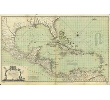 Map of the West Indies by Thomas Bowen (1774) Photographic Print