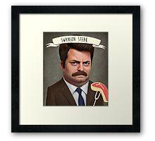 Swanson Steak Framed Print