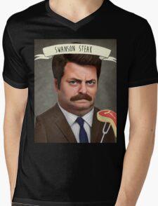 Swanson Steak Mens V-Neck T-Shirt