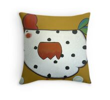 Chicken and eggs Throw Pillow