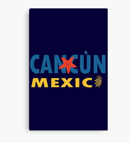 Cancun mexico graphic geek funny nerd Canvas Print