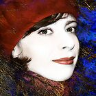 Girl in Red beret. by Valentina Walker