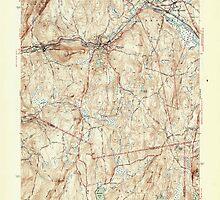 Massachusetts  USGS Historical Topo Map MA Warren 352315 1946 31680 by wetdryvac