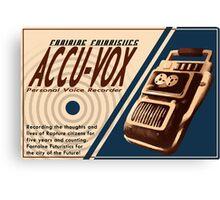 Accu-Vox Canvas Print