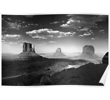 Monument Valley in Black & White  Poster