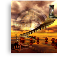 The burning state of entropy Canvas Print