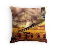 The burning state of entropy Throw Pillow