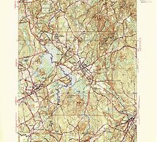 Massachusetts  USGS Historical Topo Map MA Medfield 351893 1946 31680 by wetdryvac