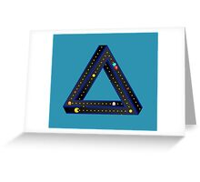 Pac Man Infinite Greeting Card