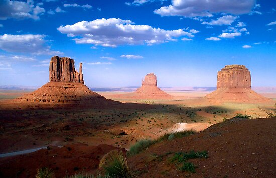 Mittens in Monument Valley by Lucinda Walter