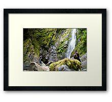 Douglas Falls - Vancouver Island Framed Print