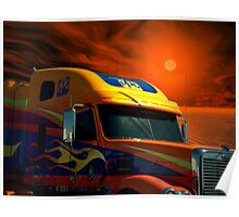 2008 Freightliner Coronado Semi Truck Poster