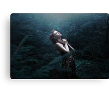 Mystic forest girl Canvas Print