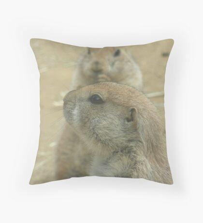 Prairie Dogs at Play Throw Pillow