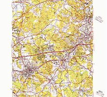 Massachusetts  USGS Historical Topo Map MA Natick 351954 1950 31680 by wetdryvac