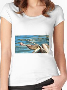 Big Mouth Pelican Women's Fitted Scoop T-Shirt