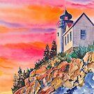 Bass Harbor Light Sunset by jwwalker