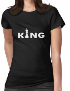 Cool king typography chess geek funny nerd Womens Fitted T-Shirt