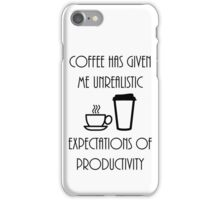 Unrealistic Expectations of Productivity - Black iPhone Case/Skin