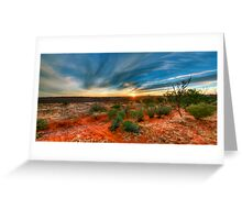 Outback skys Greeting Card