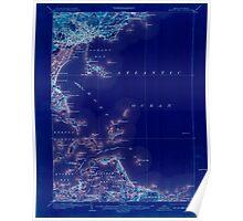 Massachusetts  USGS Historical Topo Map MA Boston Bay 352527 1903 62500 Inverted Poster