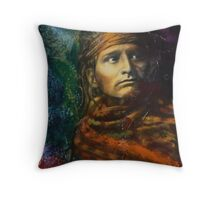 Chief of the Desert (Navajo) - Pop art style Native American portrait Throw Pillow