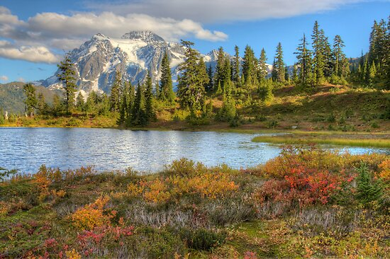 Mt. Shuksan in the Fall (HDR) by Barb White