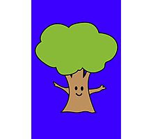 Cute tree geek funny nerd Photographic Print