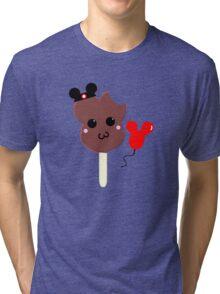 Kawaii Pixel Mickey Premium Ice Cream Bar Tri-blend T-Shirt