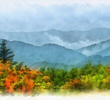 Summer Scene-On Roan Mountain by Donna Eaton