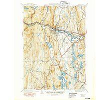 Massachusetts  USGS Historical Topo Map MA Orange 352025 1941 31680 Photographic Print