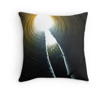 Vortex- Light at the End of the Tunnel Throw Pillow