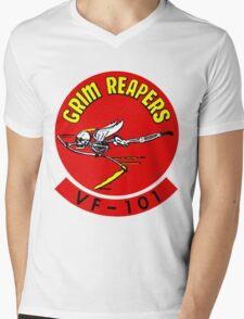 VF-101 Grim Reapers Logo Mens V-Neck T-Shirt