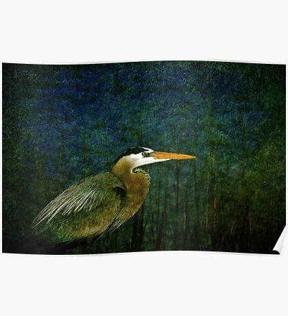 Big Heron Bird Poster